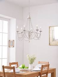 6 light candle style chandelier metal wood adjule weathered white finish 1 of 1free
