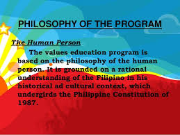 the decs values education framework philosophy of the