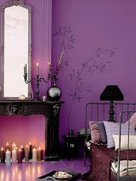 Purple Bedroom Romantic Purple Bedroom Decoration With Many Candle Dweefcom