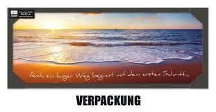 Glasbild 80x30cm Spruch Zitat Strand Meer Sonne Artissimo Art Is