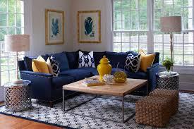 Navy Sectional  Transitional  Living Room  Lillian AugustNavy Blue Living Room Chair