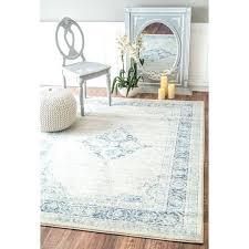 vintage flower medallion light blue area rug 5 x and white rugby shirt living handmade trellis light blue white area rug