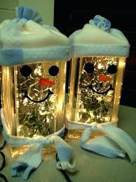 glass block craft ideas s projects for lighted decorated pictures snowman