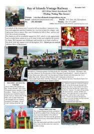 December 2012 newsletter - Bay of Islands Vintage Railway