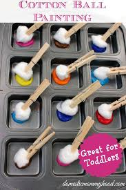 art and craft ideas for toddlers pinterest. kids activity: cotton ball painting - fun toddler activity domestic mommyhood · arts and craftskids art craft ideas for toddlers pinterest