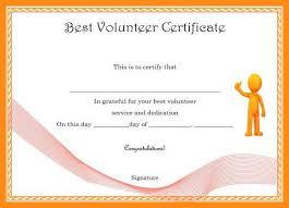 Volunteer Certificates 9 10 Volunteering Certificate Sample Elainegalindo Com