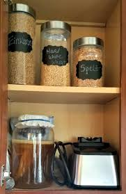 for bulk food items keep a container in your main pantry or cooking area and the large part in your long term food storage location