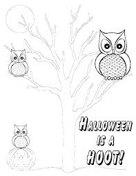 Free Printable Owl Coloring Pages Snowy Colouring Page