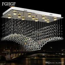 rectangular flush mount kitchen light best of rectangle wave lamp luxury modern crystal chandelier light res