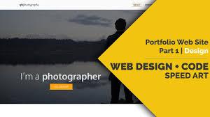 Art Portfolio Website Design Web Design Code Speed Art Portfolio Website Part1 Design