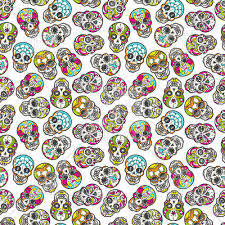 Mexican Pattern Interesting Colorful Mexican Sugar Skull Seamless Pattern Vector Image Vector