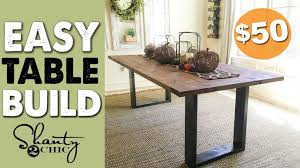 Side Table Diy Rustic Modern Dining Table Shanty Chic Diy Rustic Modern Dining Table Shanty Chic