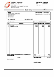 sample debit note format debit invoice ashleytips club