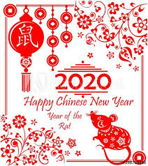 chinese new year card 2020 happy chinese new year 2020 year of the rat decorative