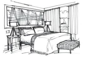 Brilliant Interior Design Bedroom Drawings Qsketch Cliff House Hotel Inside Modern