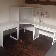 excellent desk office. Ikea Micke Corner Station And Two Desks Excellent Condition Desk Office