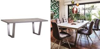 if you re looking for a stylish new dining table the halmstad dining table is a summer steal the simple design has an industrial vibe with a concrete