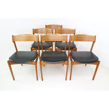 dining room chairs set of 6 set of 6 danish teak dining chairs by erik buch
