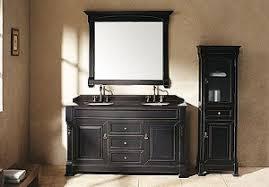 black bathroom vanity. black bathroom vanity with carrera marble top .