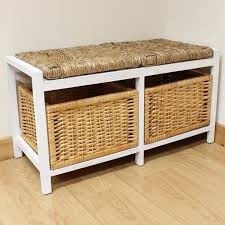 size bathroom wicker storage: full size of  winsome hartleys farmhouse bench bathroom seat white wash rustic finish wooden frame  high quality woven water seagrass storage baskets  wicker style cushions perfect for use in bathroom