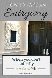 Ideas for how to make an entryway with storage when you don't have one
