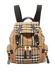 burberry vintage check mini canvas backpack