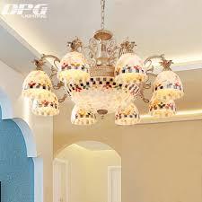 Gold Kronleuchter Tiffany Stil Antike Lampe Leuchte Tiffany