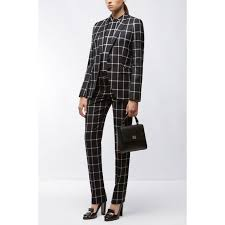 Patterned Blazer Womens Adorable Womens BOSS Clothing Windowpane Virgin Wool Blazer Jerima