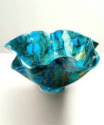 Turquoise Decorative Bowl Teal Decorative Bowl Urban Designs Aqua Glass Inch Large 89