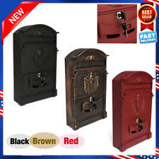 heavy duty mailbox. Mail Box Heavy Duty Mailbox Postal Security Cast Aluminum Wall Mount W/ Key