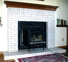 white painted brick fireplace painted brick fireplace before and after brick fireplace before painting white painted