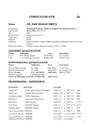 Resume Medical Surgical Nurse Resume