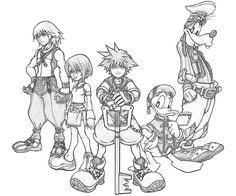 Small Picture Free Kingdom Hearts Coloring Pages With Printable Kingdom Hearts