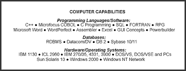 Example Of Computer Skills On Resumes Computer Skills Resume Sample Example Document And Resume