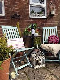 painted wooden garden chairs the