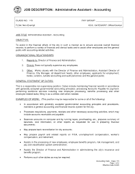 Accounting Assistant Job Description Resume Administrative Assistant Duties Resume Administrative Assistant Job 3