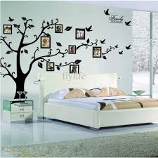 large size black family photo frames tree wall stickers diy home