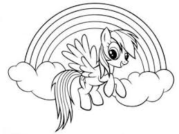 Small Picture My little pony rainbow dash coloring page rainbow dash coloring