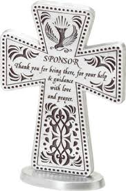 3 standing pewter sponsor cross a lasting keepsake and reminder of your appreciation item 25119
