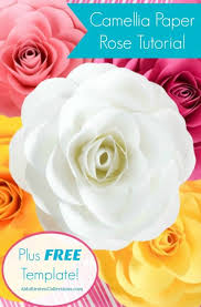 Large Paper Flower Pattern Free Large Paper Rose Template Diy Camellia Rose Tutorial