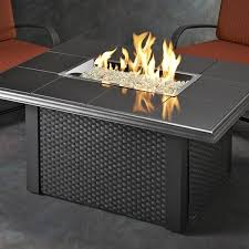napa valley fire pit table black wicker by outdoor greatroom wicker fire pit r6