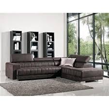 turino brown sectional sofa zoom