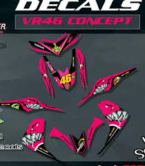 Mio I 125 Magenta Sticker Design Mio I 125 Decals