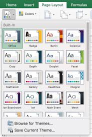 Excel Themes Excel 2016 Mac Themes Grok Knowledge Base