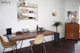 home office home office makeover emily. Beaudette Is A Talented Contemporary Potter (notice All Of His Great Pieces Filling Their Bookshelves) And We Now Carry Original Works In Clad Home! Home Office Makeover Emily