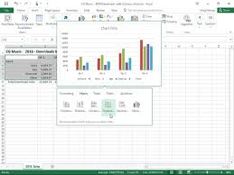 How To Insert Charts With The Quick Analysis Tool In Excel