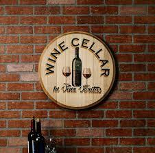 wine barrel head wall décor