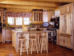 Rustic Log Kitchen Cabinets White Kitchen Cabinets In Log Home Quicuacom