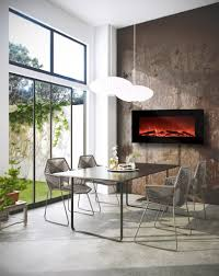 garibaldi heating 50 electric wall mounted fireplace with remote realistic log flame effect multiple