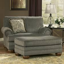 parcal estates basil traditional chair and a half and ottoman with fringe toss pillow by signature design by ashley miskelly furniture chair ottoman